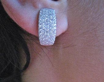 micro pave earrings