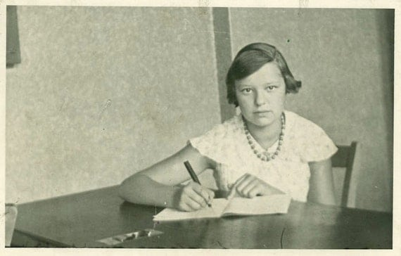 """Vintage Photo Postcard """"Young Student"""", Photography, Paper Ephemera, Snapshot, Old Photo, Collectibles - 0015"""