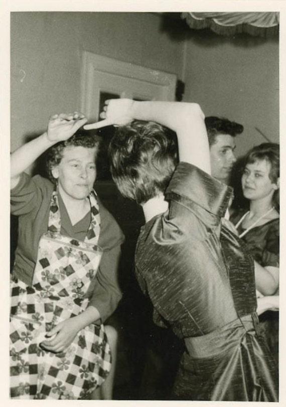 "Vintage Photo ""Dancing Partners"", Photography, Paper Ephemera, Antique, Snapshot, Old Photo, Collectibles - 0001"
