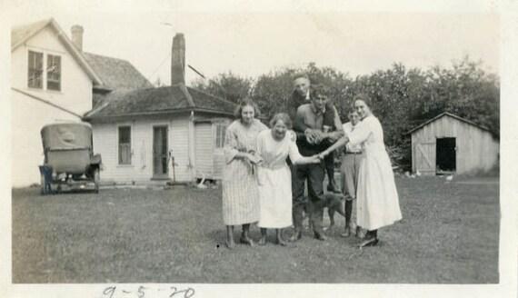 "Vintage Photo ""Fun Times on the Farm"", Photography, Paper Ephemera, Antique, Snapshot, Old Photo, Collectibles - 0001"