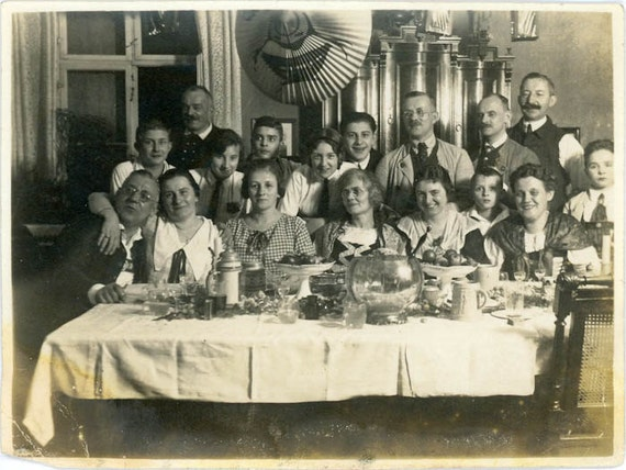 """1926 Vintage Photo """"Midnight Party"""", Photography, Paper Ephemera, Snapshot, Old Photo, Collectibles - FT020"""