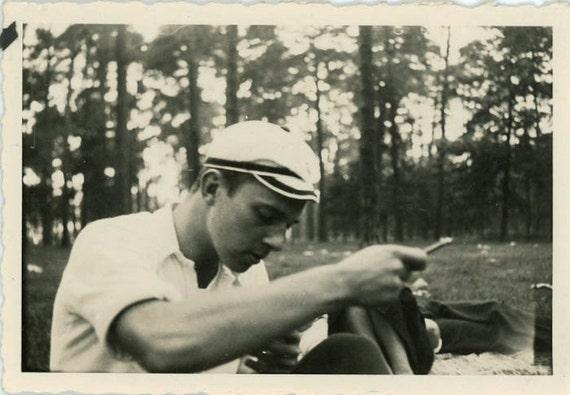 "Vintage Photo ""Mr. Fix It"", Photography, Paper Ephemera, Antique, Snapshot, Old Photo, Collectibles - 0059"