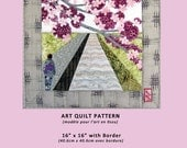 """Kimono Blossom - 16"""" x 16"""" art quilt pattern for any level fiber artist or quilter, with full-size pattern and complete instructions"""