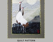 """Greeting the Moon - 36"""" x 26"""" art quilt pattern for any level fiber artist or quilter, with full-size pattern and complete instructions"""