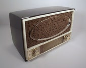 Eames Era Vintage Zenith AM/FM Tube Radio Gray 1959 Model C725C Plays Great Mid Century Mod EXC Condition Christmas