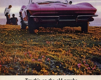 Chevrolet Sting Ray Convertible - Magazine Ad, 1965