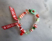Christmas Glass Candy Bracelet - perfect little Christmas gift