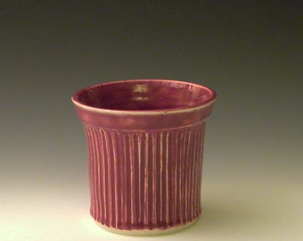 Dark Pink Utensil Holder