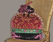 Tea Cozy In Silk and Velvet For Tea In Venice With Vivaldi - OOAK