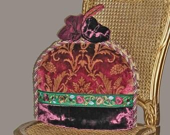 Tea Cozy In Silk and Velvet For Tea In Venice With Vivaldi - OOAK