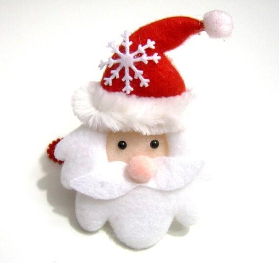 Felt Santa Hair Clip