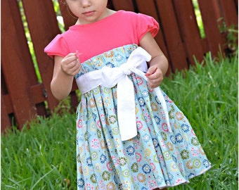 Natalie Dress: Girls Dress PDF Pattern, Baby & Toddler Dress PDF Pattern