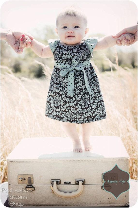 Lucy Dress: Girls Peasant Dress Pattern, Baby & Toddler Peasant Dress Pattern