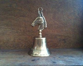 Vintage English horse dinner bell brass circa 1960's / English Shop