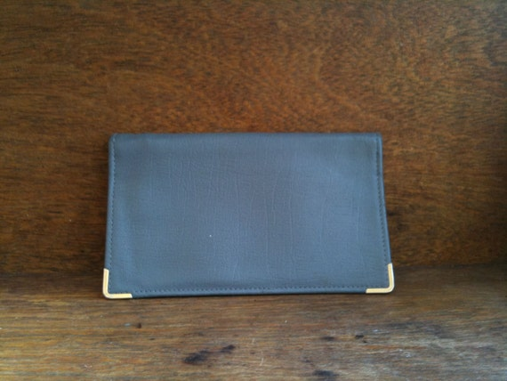 Vintage English Grey Leather Wallet