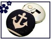 Vintage magnet & bottle opener // Anchor