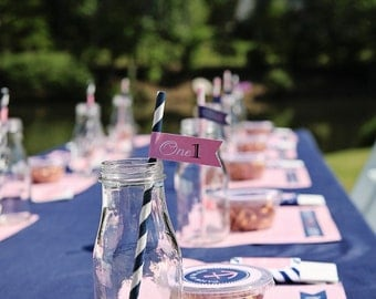 Preppy Nautical Collection: Printable Placemats (Color Choices)