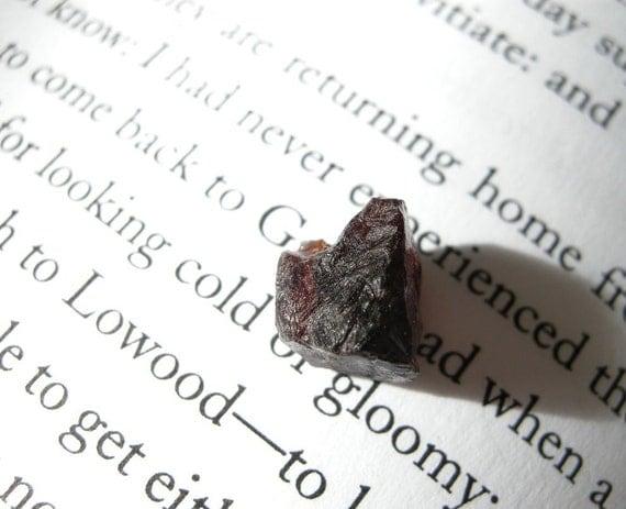 DESTASH Rough Almandine Garnet Specimen Stone / Small, Raw, Deep Merlot Red Black, Dark, Metaphysical Halloween Gift