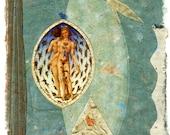 Zodiac Memory, original mixed media collage