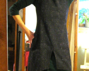Custom O Back Jumper, any size, any fabric, your choices entirely, sample in WOOL TWEED