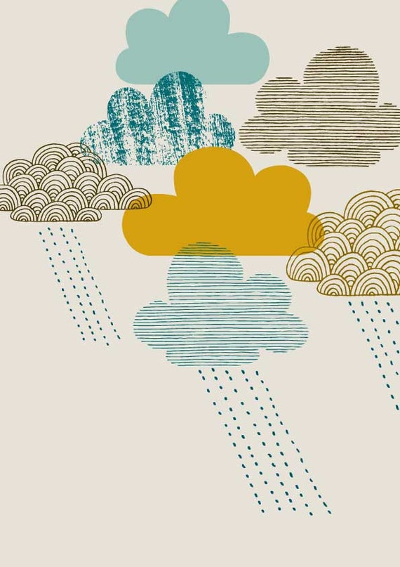 Passing Shower, limited edition giclee print