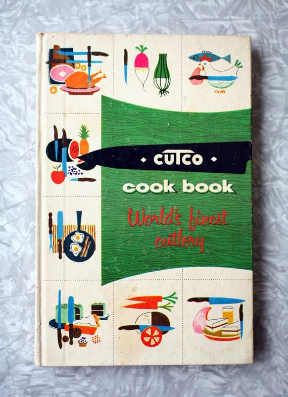 Cutco Cutlery Cookbook from 1961, by Margaret Mitchell, with Frank Marcello illustrations PRICE REDUCTION