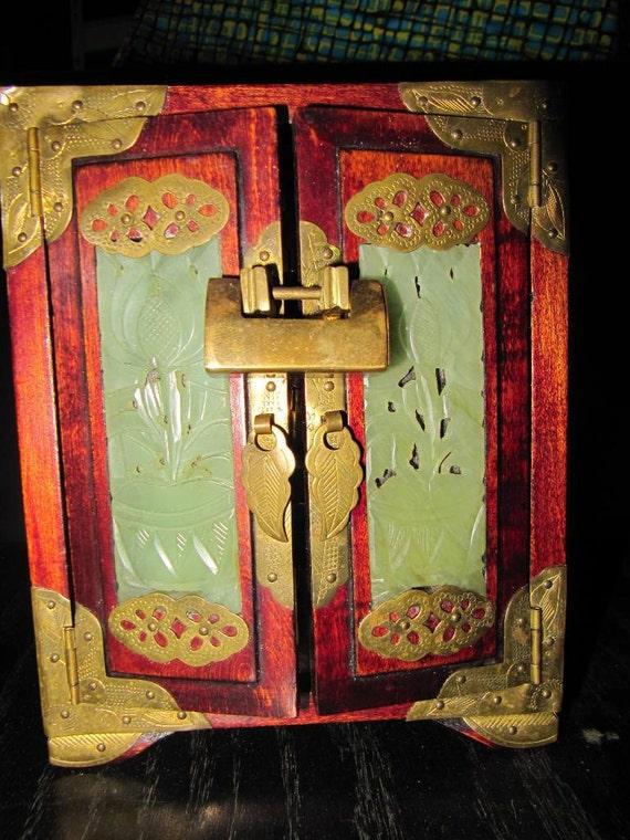Rosewood & Jade Jewelry Box