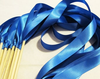 100 Wedding Ribbon Wands in Your Custom Colors Ribbon Wands Princess Wands Wedding Favors Unique Exit Idea Instead of Rice