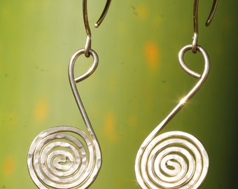 Gold Spirals On Half Hoop Earrings