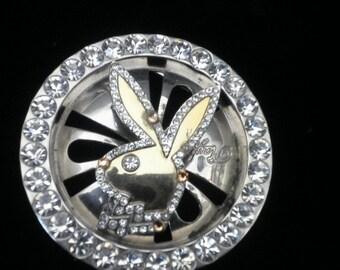 Vintage Rare Playboy Swarovski crystal and Rhinestone Belt Buckle
