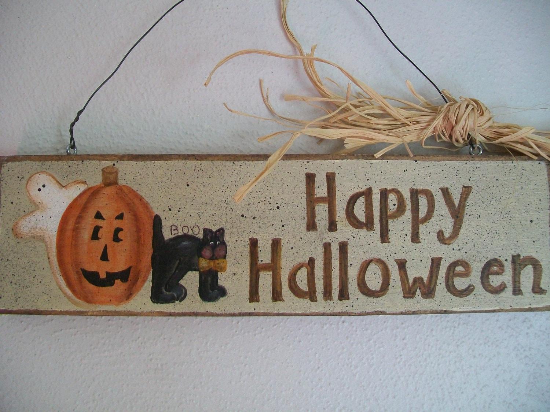 Happy Halloween Wooden Sign
