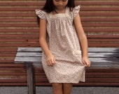 PDF Pattern - Madison Dress for 4 - 10 years old and tutorial.