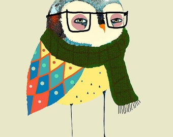Children's Owl Decor - Owl art Print - Nursery Owl Decor - Wall Art.