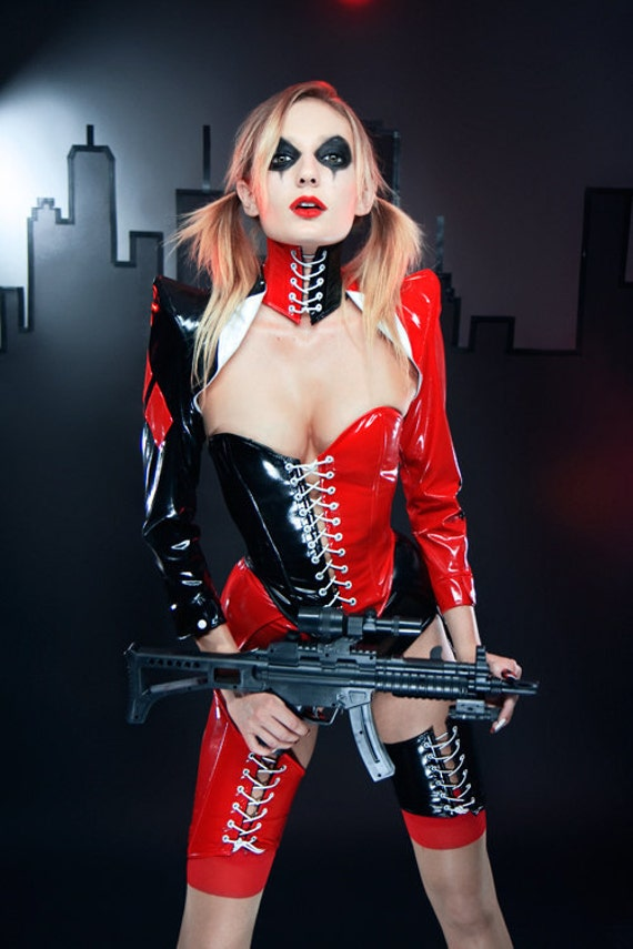 S/M Harley Quinn cosplay PVC pointed shoulder shrug Artifice (made to order)