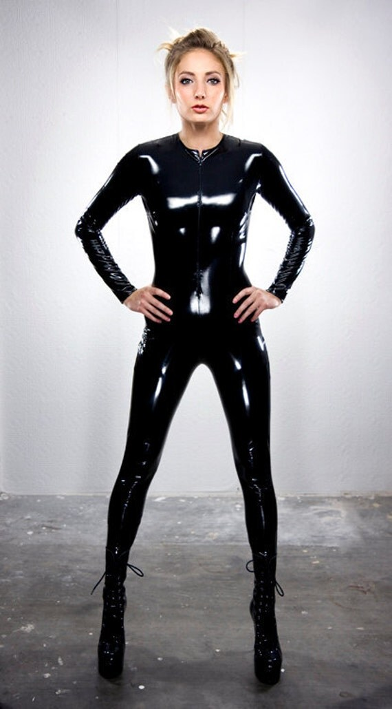 S Black PVC catsuit from Artifice Clothing (production sample, ready to ship)