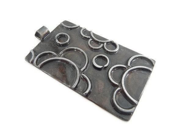 Bohemian necklace, boho necklace, boho pendant, bohemian pendant, antiqued silver, flower, floral, neklace, pendant, mixed metals