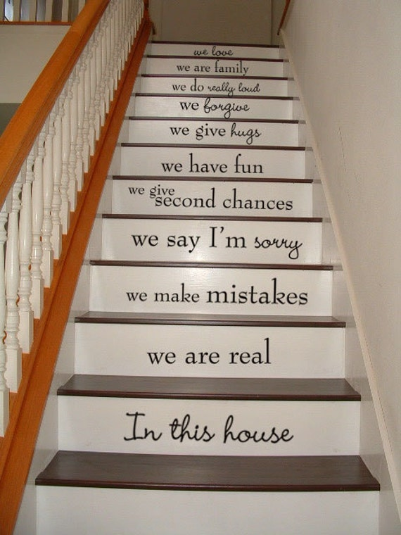 In This House STAIR CASE Stairway Stair Riser By