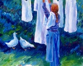Hanging The Whites - Fine Art Giclee Print