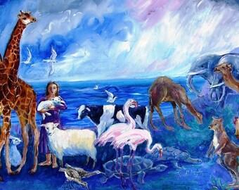 Noahs Ark -After the Flood  -Painting  - Acrylic on canvas
