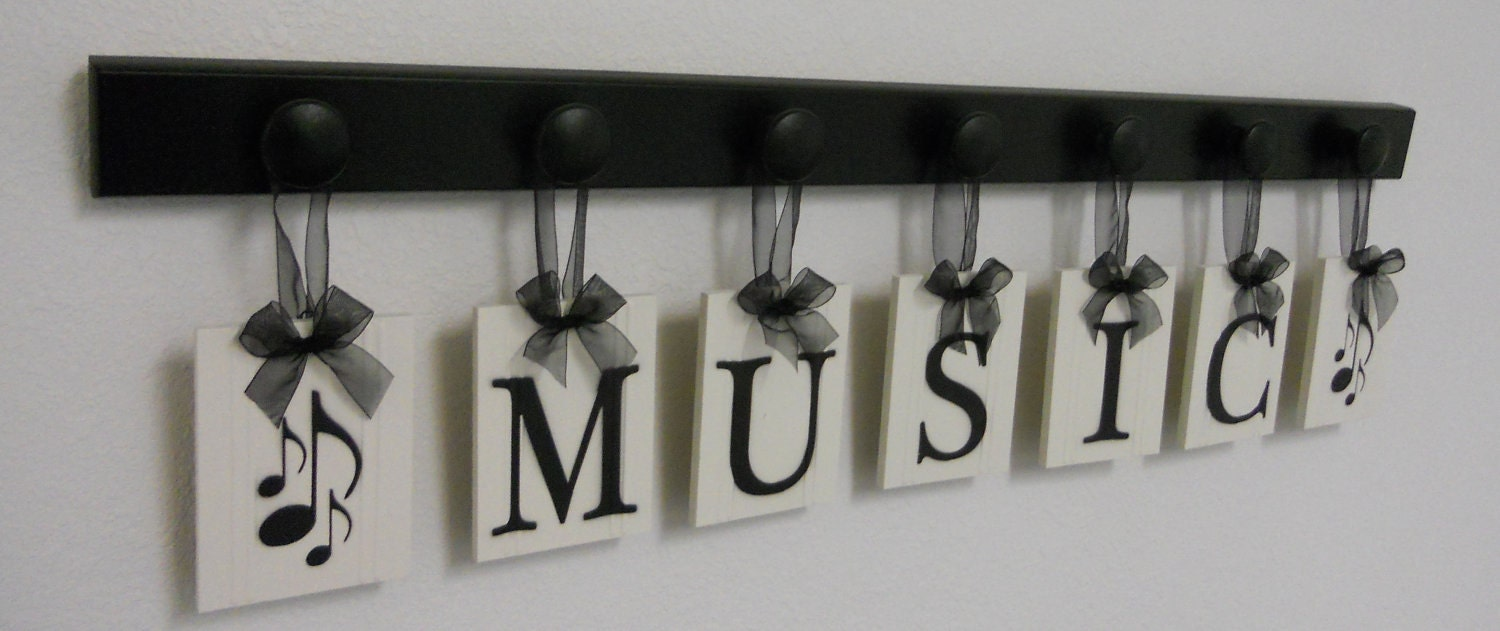 Musical Wall Decor Personalized Hanging Letters By NelsonsGifts