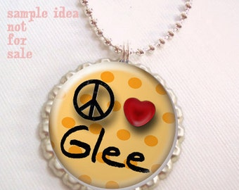Glee club bottle cap images- Digital collage-1 inch circles-Bottle cap images-Digital download-Scrapbooking-Pendants-, BUY 3 get 1 FREE