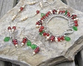 Strawberries and Cream Necklace - a Taste of English Summer