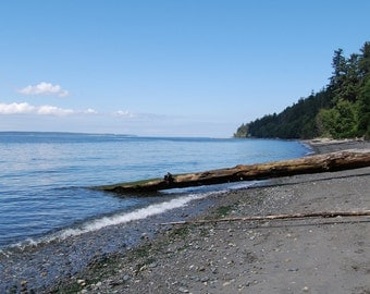Beach Greeting Card Landscape Photography Beach Photography  Sunny Day on Whidbey Island Beach