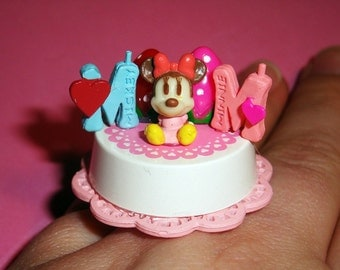 Minnie Mouse Strawberry Birthday Cake Ring