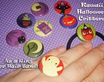 Kawaii Halloween Critters - Ring OR Hair Band - Choose One