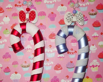 Huge Candy Cane Necklaces - Candy Cane Red or Frosty Lavender