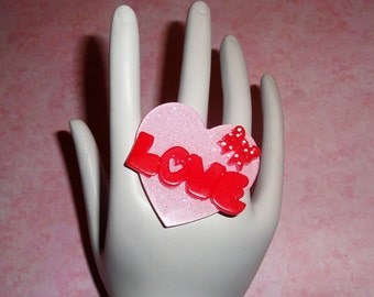 Valentines Love Heart Ring