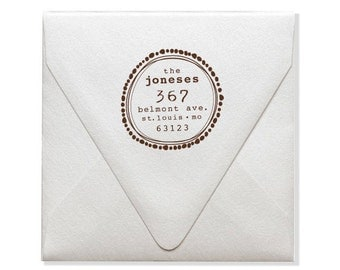 Address Stamps - Custom Address Stamp - Weddings - DIY Envelope Printing - Unique Gift Giving - Personalized Gifts Ideas - Round Stamps