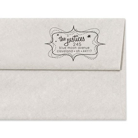 Custom Address Stamper - Personalized Address Stamp - Retro - DIY Printing - Housewarming - Wedding - Home Office Stamp - Personalized Gifts