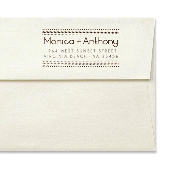Custom Address Stamp - Personalized Stamp - Address Rubber Stamper - Self Inker - Wood Mounted Stamps - Wedding - Housewarming